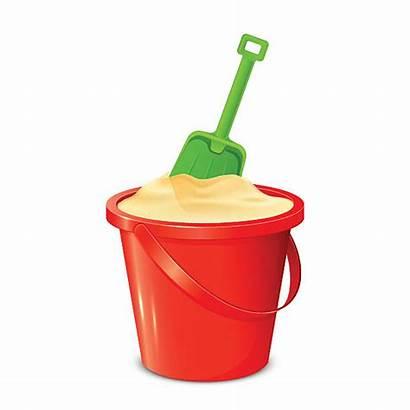 Shovel Bucket Sand Pail Clipart Spade Vector