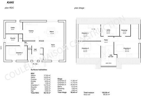 plan de maison plain pied 4 chambres gratuit couleur maison construction le plan de maison de notre