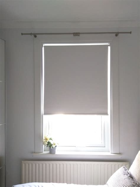 Blackout Window Blinds by Blackout Roller Blind In Polar White Fitted To Bedroom