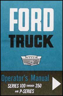 ford    pickup owners manual reprint