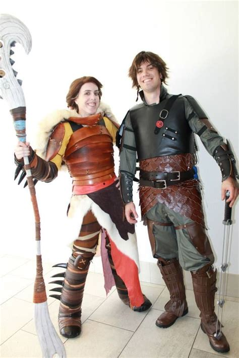 Valka Hiccup Cosplay Playing Dress How Train