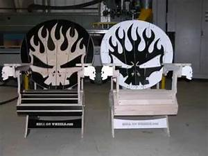 skull adirondack chairs for hell on wheels stunt team With best brand of paint for kitchen cabinets with triumph motorcycle wall art