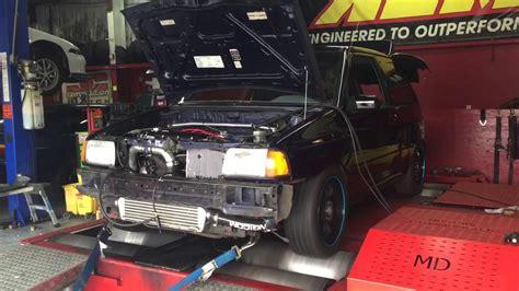 insane  hp ford festiva turbo psi youtube