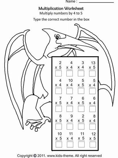 Coloring Worksheets Multiplication Worksheet Grade Math Pages