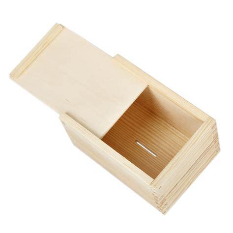 Sparbüchse Aus Holz Spardose Als Schatztruhe Unbehandelt
