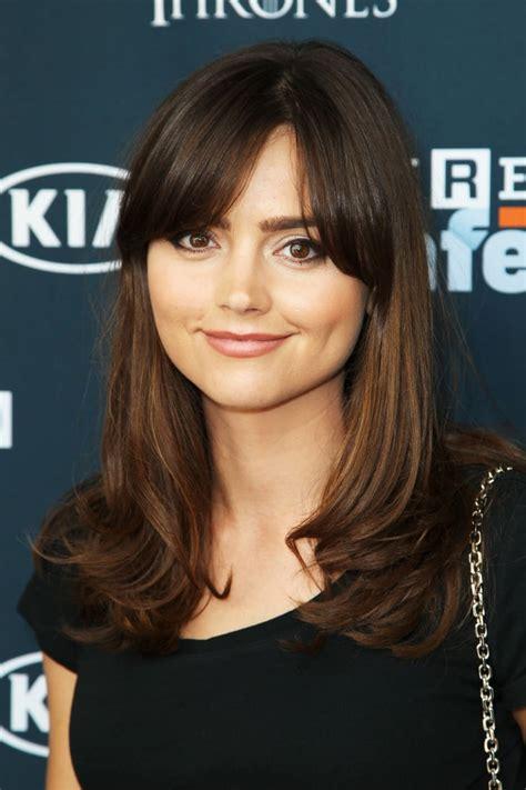jenna louise coleman celebrity fringe hairstyles
