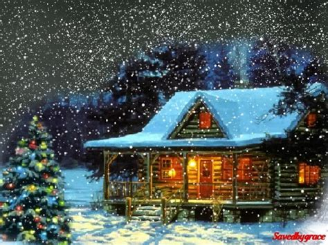 Mountain Log Cabins Christmas