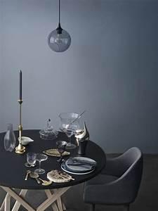 Grau Blaue Wand : blau grau als wandfarbe ist edel kolorat wandfarbe esszimmer esszimmer ~ Watch28wear.com Haus und Dekorationen