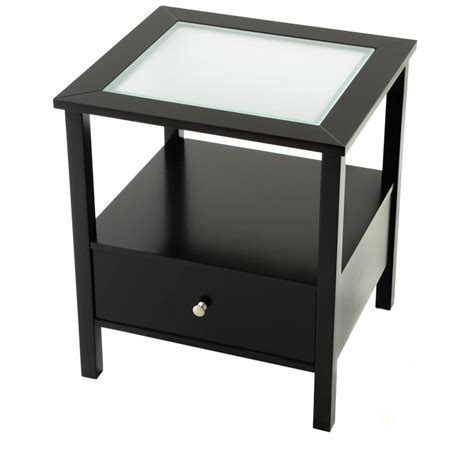 black side table with drawer small end tables top brdr furbo danish mid century modern