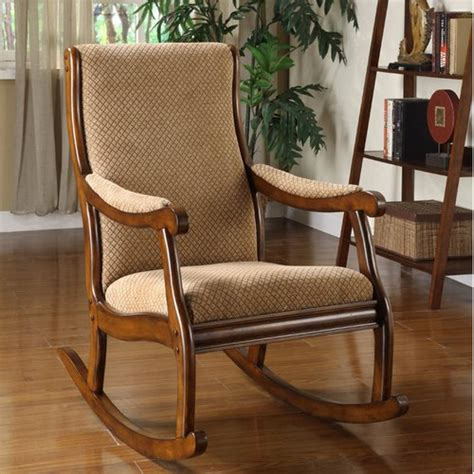 upholstered rocking chair with ottoman