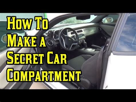 Hiding Fuse Box Car by How To Make A Secret Compartment Inside Your Car