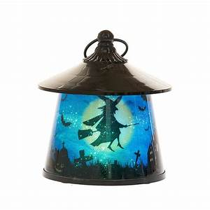 Witch, Lantern, With, Rotating, Halloween, Scene, -, Led