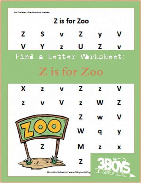 find  letter    zoo activities  kids zoo