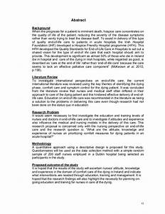 Abstract Of Research Proposal Dissertation Topics Education Abstract