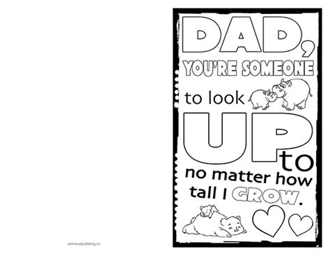 Father's Day Card To Print & Colour