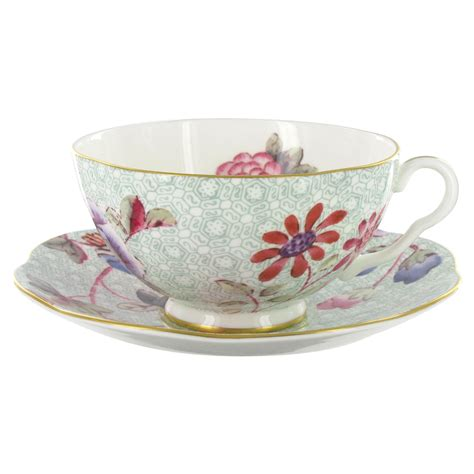 wedgwood harlequin collection cuckoo teacup  saucer