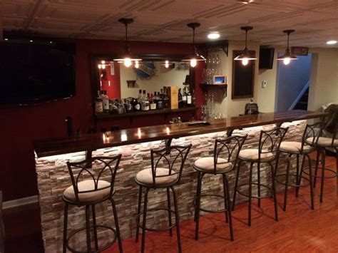 Home Bar Makeover a basement bar makeover that you will wish you owned 15