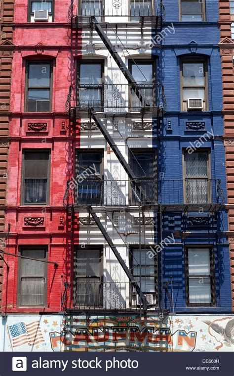 Colorful New York City Apartment by Colorful Apartment Buildings With Escapes In New York