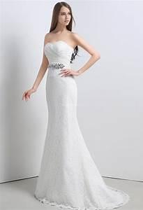 Robe De Mariee Sirene : robe de mari e dentelle sir ne bustier romantique ~ Melissatoandfro.com Idées de Décoration