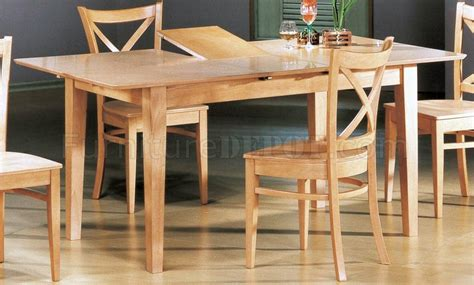 natural finish modern pc dining set wbutterfly leaf table