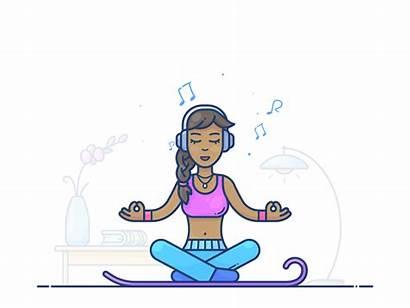 Meditation Animation Kunchevsky Sleep Dribbble Alex Health