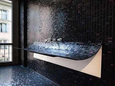 Badezimmer Schwarze Fliesen by Black Bathroom Tiles With Glitter Ideas