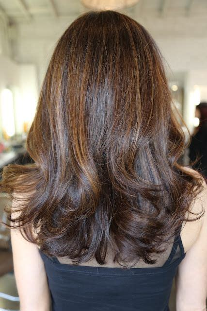 Long Brunette Hair Color with Highlights