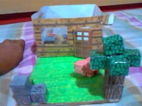 minecraft papercraft house unfinished youtube