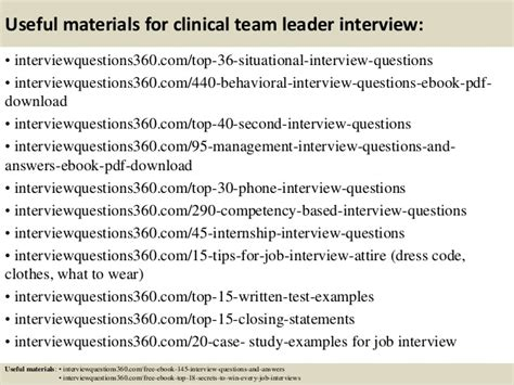 immigrant generation cover letter top 10 clinical team leader questions and answers