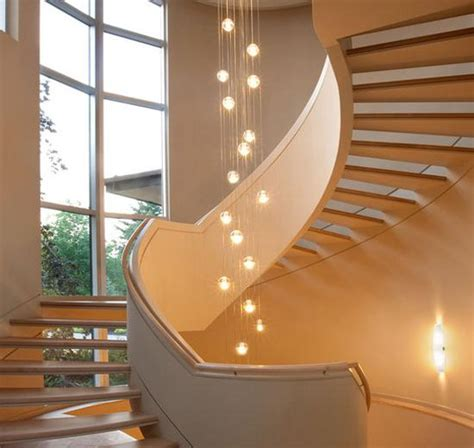 creative  modern lighting ideas  staircase design