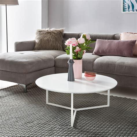 design couchtisch rund design couchtisch white 80 cm rund wei 223 matt lackiert moderner wohnzimmertisch mdf holz