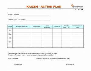Kaizen Action Plan Template