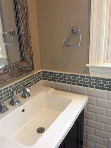 Ocean Mini Glass Subway Tile Bathroom Backsplash Subway