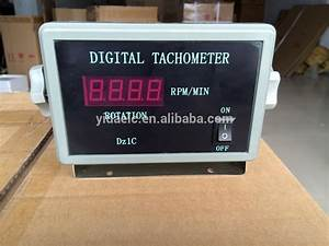 Square-type Marine Engine Rpm Tachometer 0-9999rpm