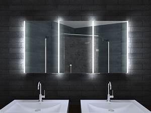 Badezimmer Spiegelschrank Led : alu badschrank badezimmer spiegelschrank bad led beleuchtung 140x70cm mla14700 ~ Indierocktalk.com Haus und Dekorationen