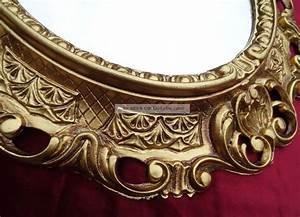 Spiegel Antik Oval : wandspiegel spiegel in gold oval 45 x 38 cm barock antik repro vintage 345 3 ~ Markanthonyermac.com Haus und Dekorationen