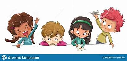 Groep Spelen Ongehoorzame Klasse Kinderen Het Gioco