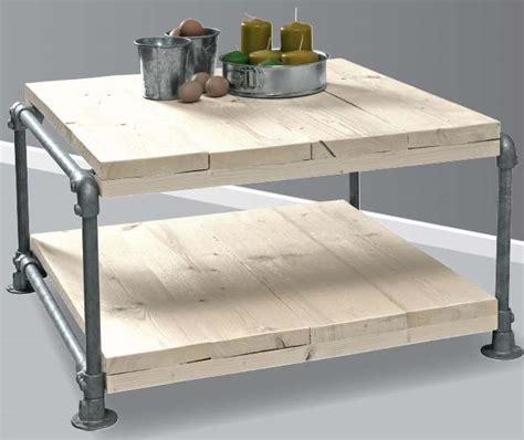 zelf een salontafel maken tafel maken steigerhout en buizen bouwtekening voor