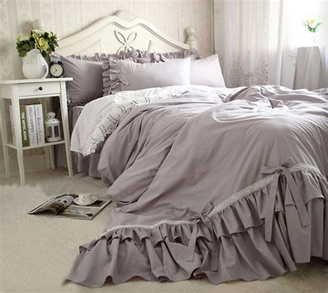 white bedspread with ruffles grey ruffle bedspread reviews shopping grey