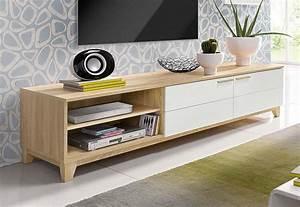Meuble Bois Et Blanc : meuble tv scandinave moderne ~ Teatrodelosmanantiales.com Idées de Décoration