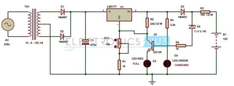 automatic  portable battery charger circuit  lm