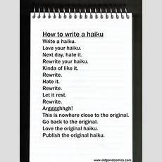 How To Write A Haiku  Old Pond Comics