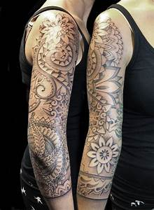 Tattoo Ganzer Arm Frau : 35 full sleeve mandala tattoos ~ Frokenaadalensverden.com Haus und Dekorationen