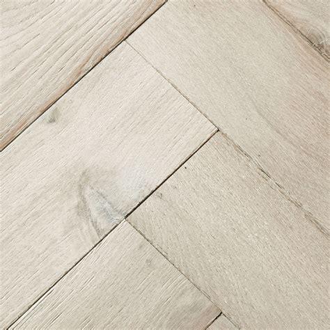 Goodrich Whitened Oak Parquet Flooring   Woodpecker Flooring