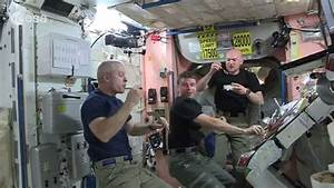 Space Station Astronauts Eat a Floating Dinner | ISS ...