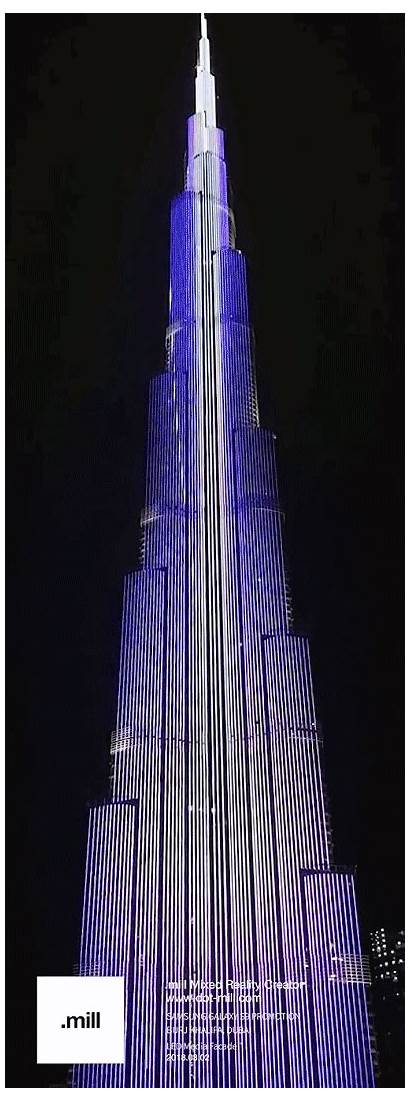 Projection Performance 3d Burj Khalifa Galaxy Dubai