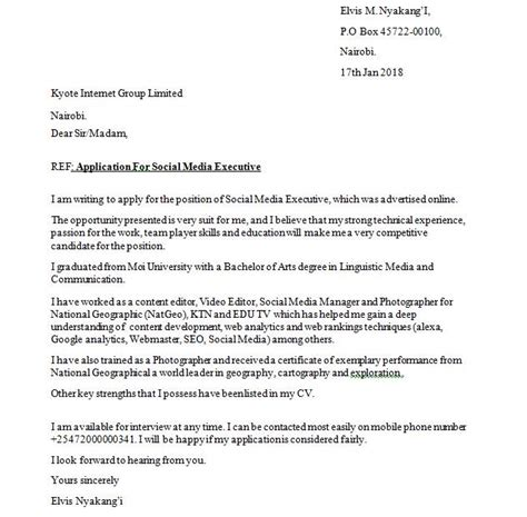 sle cover letter and how to write a job application