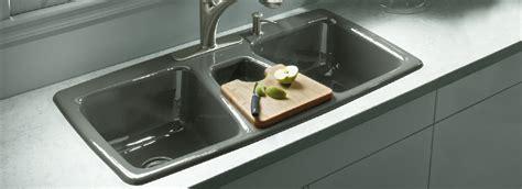 Single Bowl Kitchen Sink Sizes by Kohler 174 Cast Iron Primary Kitchen Sinks Triple Basin Trieste