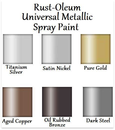 rust oleum universal metallic spray paint color chart