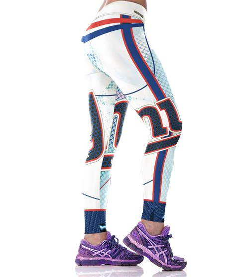gifts for new york giants fans woman new york giants sports leggings fans fitness nfl